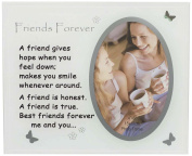 David Fischhoff Friends Forever Photo Frame, Glass, Grey