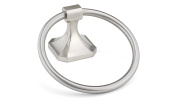 Richelieu Hardware NB1020649 Riviera Collection Towel Ring, Brushed Nickel
