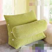Triangle backrest bed with large pillow bedside cushions sofa waist waist