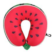 Travel Soft Cushion,Lommer Fruit U-Shape Pillow Double Sided Neck Pillow--Watermelon