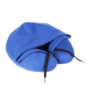 Travel Hoodie Neck Pillows with Cap Drawstring Adjust Hood Opening U-Type Pillow for Napping in the car/aeroplane/bus/train/lunch break
