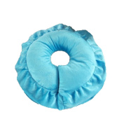 Beauty Bed Pillow Beauty Body Massage Room Pillow U-shaped Pillow Coral Cashmere Pillow,Blue-AllCode