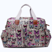 Miss Lulu Baby Nappy Nappy Changing Bag Set 4 Pieces Butterfly Print