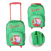 PEPPA PIG GEORGE WHEELIE TRAVEL BAG CASE SCHOOL OVERNIGHT HOLIDAY HAND LUGGAGE