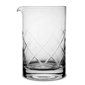 Crystal Cocktail Mixing Glass - Thick Bottom 16oz 500ml Cocktail Glass - Choice for Amateurs & Pros - Ideal Gift
