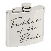 Father of the Bride 150ml Stainless Steel Hip Flask