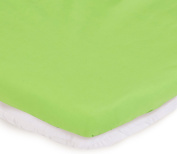 aBaby Bassinet Mattress Protector and Sheet Combo, Green Apple, 38cm x 80cm