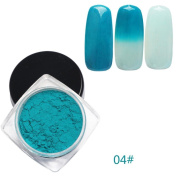 OVERMAL 12 Colours Thermochromic Thermal Change Temperature Powder Dust Gradient Nail Art