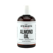Organic Sweet Almond Oil - 100% Pure and Unrefined - Use Alone on Hair, Face and Body as a Softener and Moisturiser or Add to your DIY Skin Care Recipes - 120ml