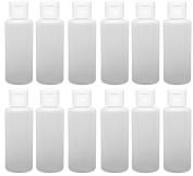 12 - 60ml Travel Bottles with Flip Caps