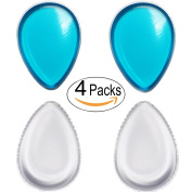 4 Pieces Silicone Blender Makeup Sponge puff (Water Drop Shape) for Liquid Foundation BB Cream Beauty Essentials Blusher Flawless Makeup Base