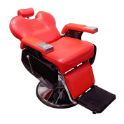 Real Relax All Purpose Classic Beauty Hydraulic Recline Barber Chair Salon Spa Shampoo Equipment Red