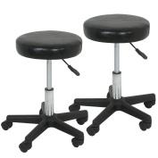Set of 2 Beauty Hydraulic Rolling Tattoo Salon Stool Massage Facial Spa Stool Chair