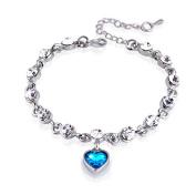 Hosaire 1X Womens Girls Fashion Elegant Hand Chain Charm Crystal Bracelet Women'S Jewellery