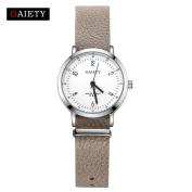 Women Fashion Analogue Quartz Round Wrist Watch With Leather Band ,Tuscom