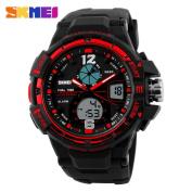 SKMEI Sport Quartz Watch ,Tuscom Men Analogue Digital Waterproof Military Wrist