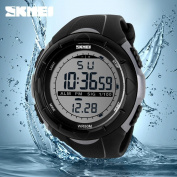 Men Analogue Digital Waterproof Watch ,Tuscom Sport Quartz Wrist (Military) SKMEI Watch