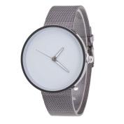 Mens Womens Unisex Metal Mesh Band Fashion Quartz Wrist Watch ,Tuscom