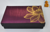 Luxury Aroma Incense And Candle Box Set In Beautiful Thai Silk Embroidered Gift Box