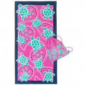 3C4G 23700 Swimming Turtles Towel with Sling Bag
