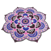 Tosangn_home Plants Pattern Tapestry With Cotton Material & Size Approximately Diameter-150cm For Picnic