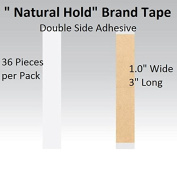 Natural Hold Tape 2.5cm X 7.6cm Straight Strips Double side adhesive 36-pcs