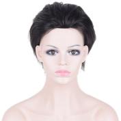 Auspiciouswig Natural Human Hair Pieces Men's Toupee Wigs for Men 25cm x 18cm