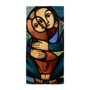 Beach Towel Stained Glass Mother and Child