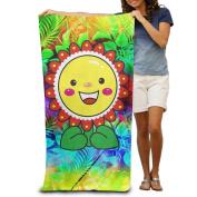 Vitality Sunflowers Comfortable Highly Absorbent Beach Towel 80cmx30cm