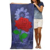 Love Symbol Rose Comfortable Highly Absorbent Beach Towel 80cmx30cm