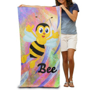 Happy Dancing Bees Fashion Highly Absorbent Beach Towel 80cmx30cm