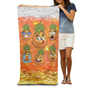Facial Expression Pineapple Fashion Highly Absorbent Beach Towel 80cmx30cm
