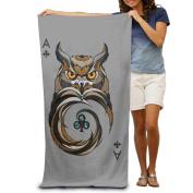 Owl The Ace Of Spades Fashion Highly Absorbent Beach Towel 80cmx30cm