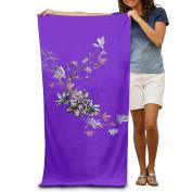 Colourful Spray Flowers Comfortable Highly Absorbent Beach Towel 80cmx30cm