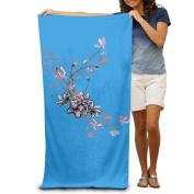 Colourful Spray Flowers Fashion Highly Absorbent Beach Towel 80cmx30cm