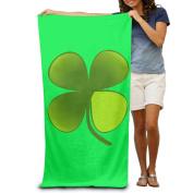 Symbol Good Luck Clover Comfortable Highly Absorbent Beach Towel 80cmx30cm