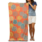 Green Yellow Forest Comfortable Highly Absorbent Beach Towel 80cmx30cm