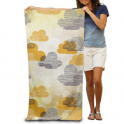 Mixed Colour Clouds Sky Comfortable Highly Absorbent Beach Towel 80cmx30cm