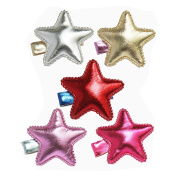 Lovely Bling Star Hair Clips Colourful Star Hair Bow Cuter Kids Toddlers Girls Hair Clips Christmas Party Hair Style