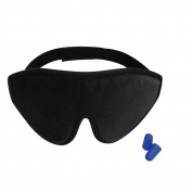 3D Sleep Mask - Lightweight & Comfortable Eye Mask - Blindfold Eye Shield with Ear Plugs,Travel Pouch - For Men Women Kids Who are on Aeroplane, Office and Bed - the ideal present For Eyes