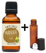 Earth Shield Manuka Oil is a premium 100% pure Therapeutic Grade MBTK+25. Harvested and distilled in New Zealand East Cape. (1oz/30ml) Includes a spare FREE 10ml Roller Bottle