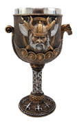 Atlantic Collectibles Norse Mythology Viking Odin Warlord Dragon Longship 240ml Resin Wine Goblet Chalice With Stainless Steel Liner