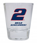 Brad Keselowski #2 Round Shot Glass
