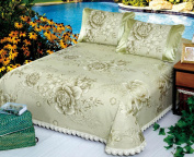High-grade Washable Ice Curtain Can Be Folded Mats Bed Cover Three-piece,A