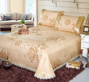 High-grade Washable Ice Curtain Can Be Folded Mats Bed Cover Three-piece,D