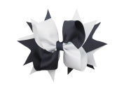 PrettyBoutique 14cm Girls 2 Colours Large Grosgrain Hair Bow Alligator Clip