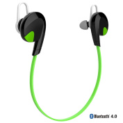 Bluetooth Headphones, iRainy Wireless Sports Earphones W Microphone Noise Cancellation for Running, Sports, Exercise for Apple Android Smart Phones Tablets Bluetooth-Enabled Devices