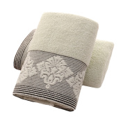 XHSP 2pcs 100% Cotton Towels Highly Absorbent Soft Bath Towels Extra Thick Face Hand Towel Set
