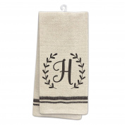 Occasionally Made O-HSM-TWL-H 60cm x 48cm Monogram H Kitchen Towel