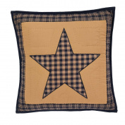 VHC Brands 32945 Teton Star Quilted Filled Pillow, 41cm x 41cm
